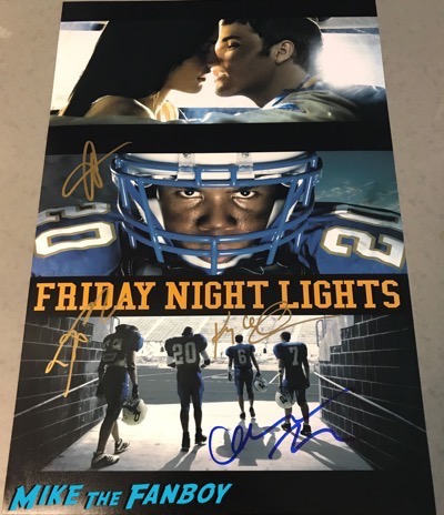 kyle chandler signed autograph friday night lights poster psa connie britton