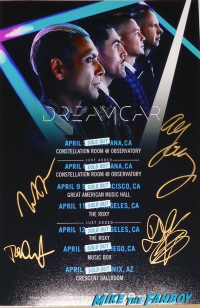 Dreamcar signed autograph Poster