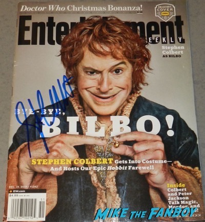 Stephen Colbert signed autograph entertainment weekly magazine cover psa