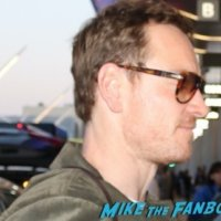 Michael Fassbender Meeting fans selfies signing autographs 2