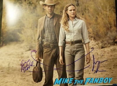Evan RAchel wood jimmi simpson signed autograph photo
