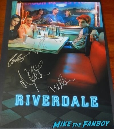 Riverdale cast signed poster kj apa luke perry psa