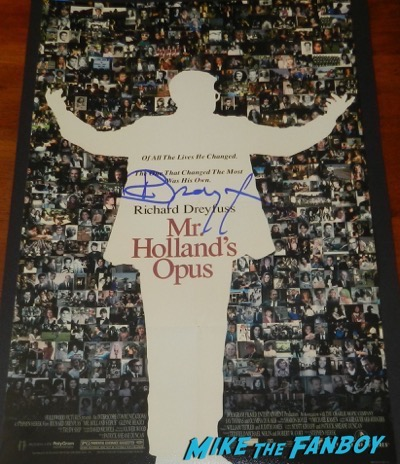 Richard Dreyfuss signed autograph mr hollands opus poster psa