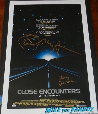 Richard Dreyfuss teri garr signed autograph close encounters poster psa