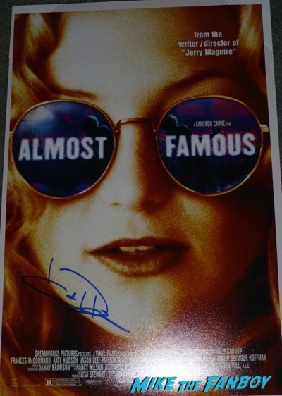 Kate hudson signed autograph almost famous poster