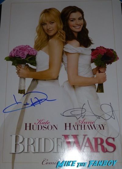 Kate hudson signed autograph bride wars poster