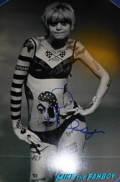 Goldie Hawn signed laugh in poster