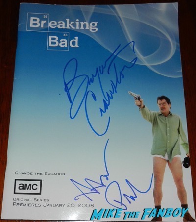 Bryan Cranston Aaron Paul signed autograph Breaking Bad Season One Presskit PSA