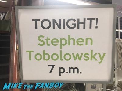 Stephen Tobolowsky book signing meeting fans vroman's pasadena 3