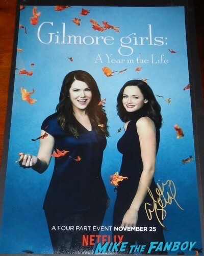 Alexis Bledel signed autograph gilmore girls a year in the life poster psa