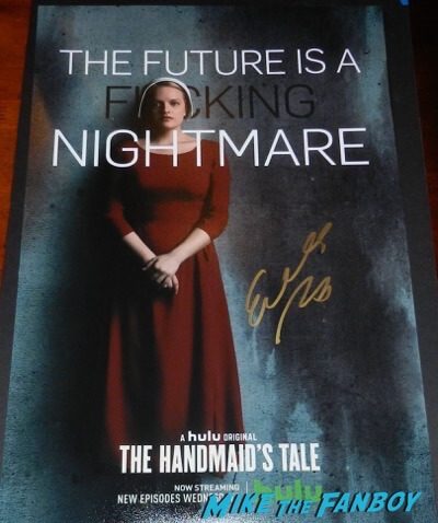The Handmaid's Tale signed autograph poster elisabeth moss psa