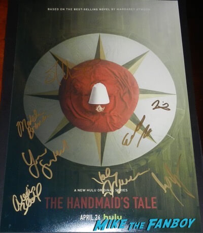 The Handmaid's Tale signed autograph poster elisabeth moss psa