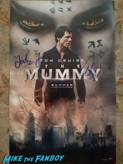 the mummy cast signed autograph posterthe mummy cast signed autograph poster