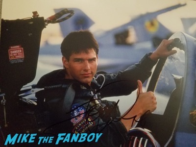 Tom Cruise signed tom gun photo rare psa