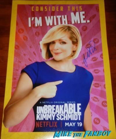 Jane Krakowski signed autograph Unbreakable Kimmy Schmidt season 3 poster