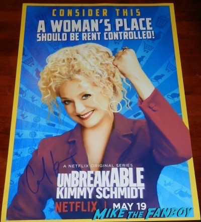 carol kane signed autograph Unbreakable Kimmy Schmidt season 3 poster