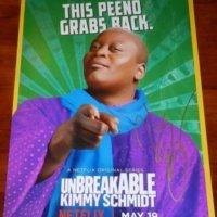 Tituss Burgess signed autograph Unbreakable Kimmy Schmidt season 3 poster