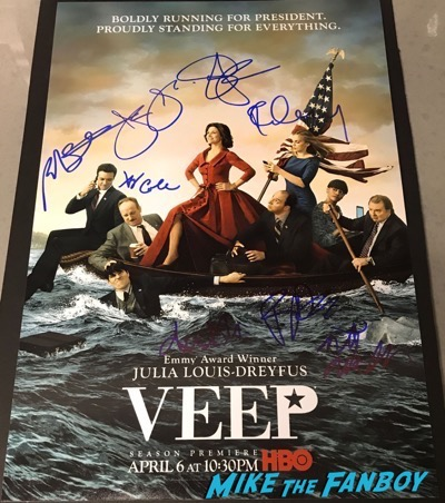 VEEP cast signed autograph poster season three julia louis dreyfus Anna Chlumsky tony hale reid scott