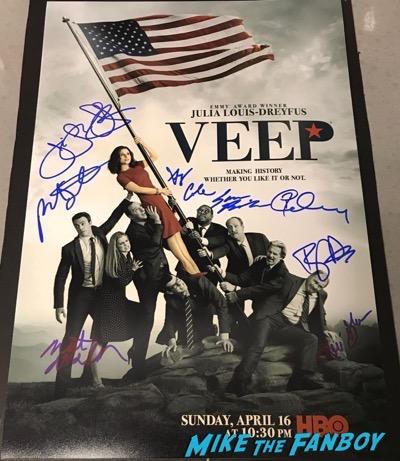 VEEP cast signed autograph poster season six julia louis dreyfus Anna Chlumsky tony hale reid scott