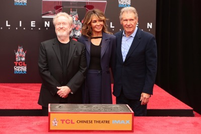 Ridley Scott Hand and Footprint Ceremony! With Harrison Ford
