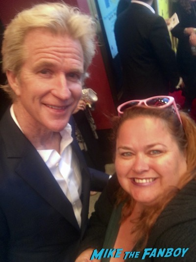 matthew modine meeting fans signing autographs