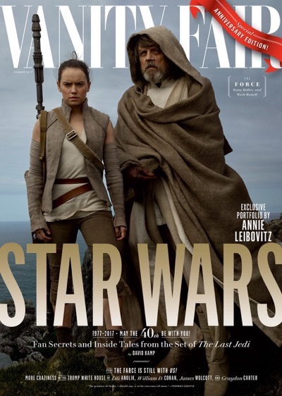 Star Wars: The Last Jedi Vanity Fair cover Daisy Ridley