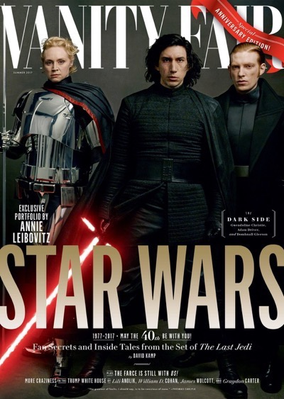 Star Wars: The Last Jedi Vanity Fair cover Adam Driver
