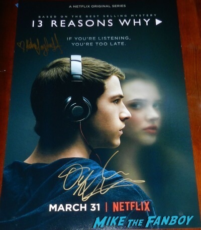 13 Reasons Why signed autograph dylan minnette katherine langford