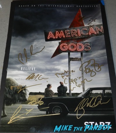 American Gods signed autograph poster PSA bryan fuller ricky whittle