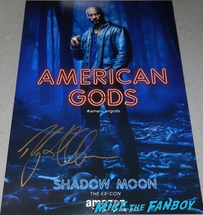 Ricky Whittle signed autograph american gods poster psa