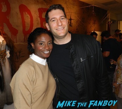 Adina porter meeting fans American horror Story prop costume exhibition 10