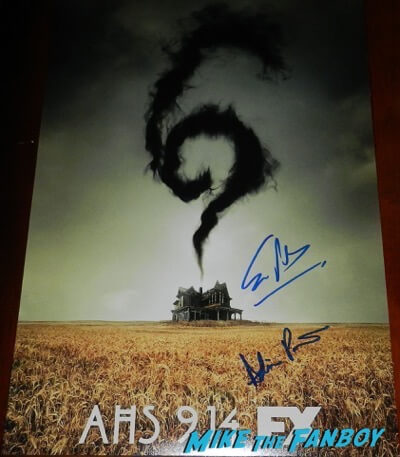 American horror Story roanoke signed autograph poster evan peters psa