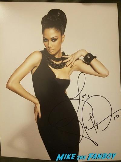 Nicole Scherzinger signed autograph photo psa