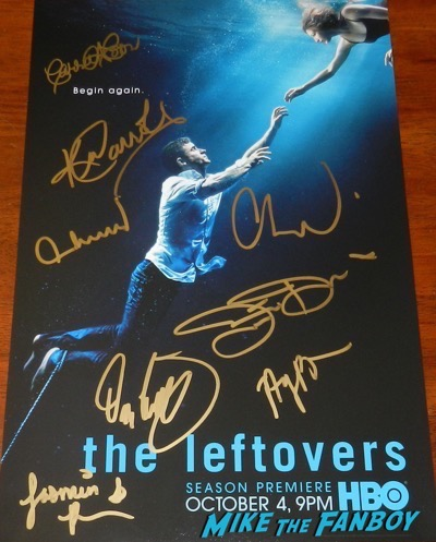 carrie coon signed autograph the leftovers season 3 poster
