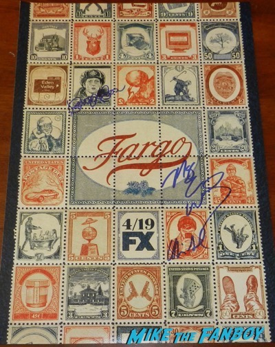 Fargo season 3 promo poster signed autograph carrie coon oliva sandoval