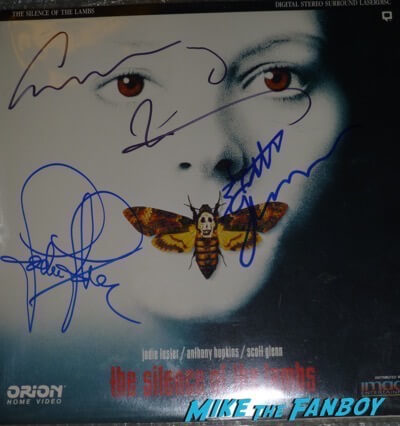 scott glenn anthony hopkins jodie foster silence of the lambs poster signed autograph PSA