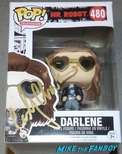 Carly Chaikin signed autograph funko mr robot pop Darlene