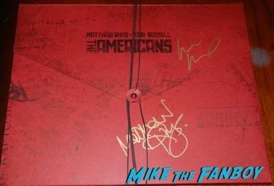 Keri Russell Matthew Rhys signed autograph the americans press kit