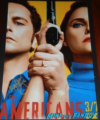 Keri Russell Matthew Rhys signed autograph the americans season five poster