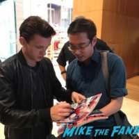 Tom Holland Meeting fans signing autographs singapore1
