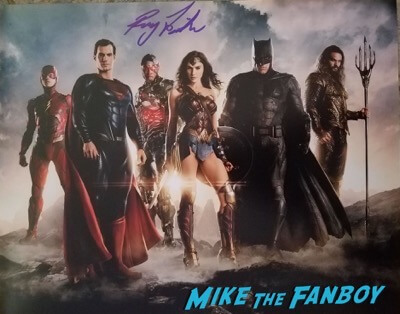 ray justice league signed autograph photo psa