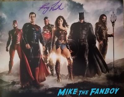 ray justice league signed autograph photo psa