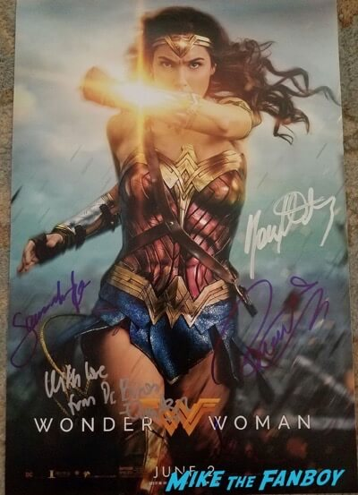 wonder woman signed autograph photo gal gadot