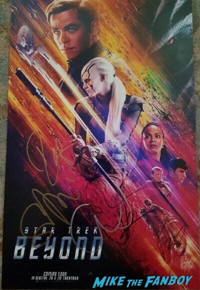 chris pine signed autograph photo poster star trek beyond