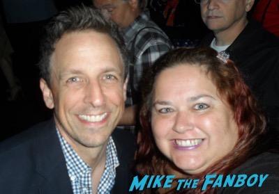 seth myers meeting fans selfie rare
