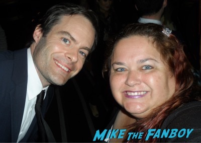bill hader meeting fans selfie rare