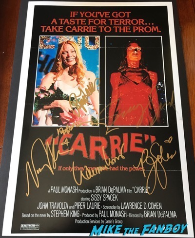 betty buckley sissy spacek signed autograph carrie poster