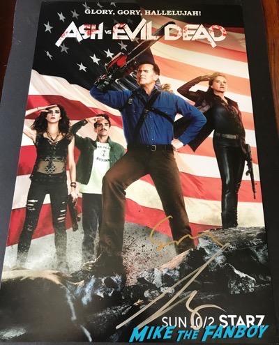 bruce campbell sam rami signed autograph ash vs evil dead poster