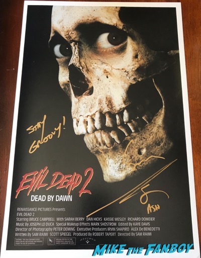 bruce campbell sam rami signed autograph evil dead 2 poster