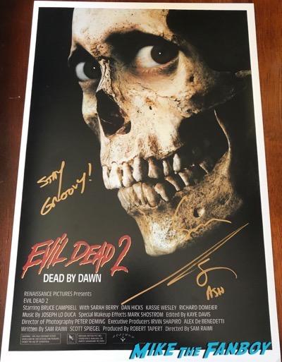 bruce campbell sam rami signed autograph evil dead 2 poster